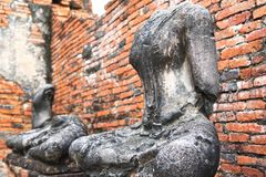 Headless and armless Buddha images Stock Photography