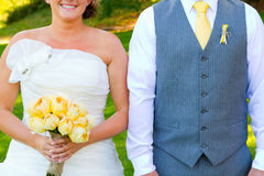 Headless Bride and Groom Stock Image