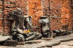 Headless Buddha. Ancient Ruin Stone Buddha Statue,Headless of Buddha image in Ayutthaya,Thailand Royalty Free Stock Image