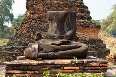 Headless buddha ruins Royalty Free Stock Photo