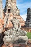 Headless Buddha statue at Wat Chaiwatthanaram, Ayutthaya, Thailand Stock Image