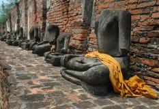 Headless Buddha statues Royalty Free Stock Photo