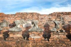 Headless Buddha statues at Wat Chaiwatthanaram, Ayutthaya, Thailand Stock Photo