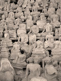 Headless Buddhas, Laos Stock Images