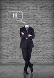 Headless businessman Royalty Free Stock Photography