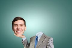 Headless businessman Royalty Free Stock Images