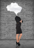 Headless dreaming businesswoman Royalty Free Stock Image