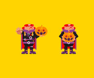 Headless horseman character for halloween in a flat style Royalty Free Stock Images