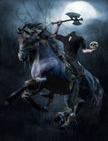 Headless horseman in the forest Stock Photos