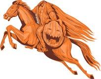 Headless Horseman Pumpkin Head Drawing Royalty Free Stock Image