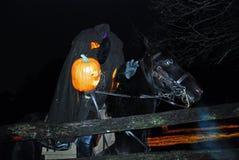 Headless Horseman Rides Again. The Headless Horseman Rides in Sleepy Hollow During a Halloween Celebration Stock Image
