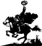 Headless Horseman Woodcut Royalty Free Stock Photography