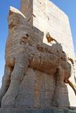 Headless Lamassu Statue in Persepolis, Iran Royalty Free Stock Images