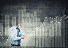 Headless pensive businessman Royalty Free Stock Images