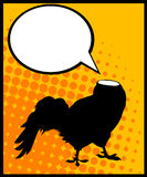 Headless rooster. Conceptual comic style graphic of a headless rooster and speech bubble Royalty Free Stock Images