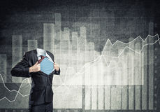 Headless super businessman Royalty Free Stock Images