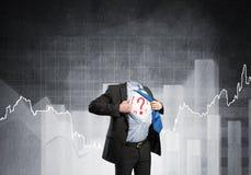 Headless super businessman Royalty Free Stock Photography