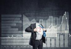 Headless super businessman Stock Photos