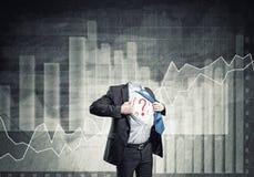 Headless super businessman Stock Image