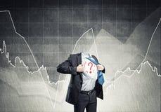 Headless super businessman Stock Photo