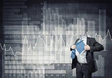 Headless super businessman Stock Images