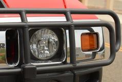 Headlight #2. SUV headlight with grill guard Stock Image