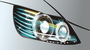 Headlight. Modern luminescent lamp design of a  car Stock Image