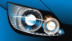 Headlight. Modern luminescent lamp design of a  car Royalty Free Stock Image