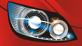 Headlight. Modern luminescent lamp design of a  car Royalty Free Stock Images