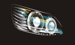 Headlight. Modern luminescent lamp design of a  car Stock Photography