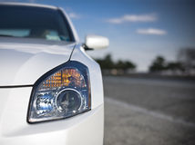 Headlight. Closeup image of the car headlight stock image