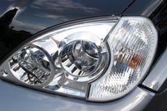 Headlight. In closeup stock image