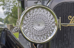 Headlight of an antique American automobile Royalty Free Stock Photos