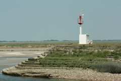 Headlight in bay of Somme, France Royalty Free Stock Photography