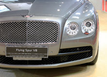 Headlight of Bentley series Flying Spur V8  luxury  car Royalty Free Stock Photography