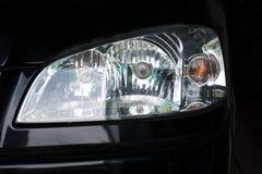 Headlight black car Royalty Free Stock Image