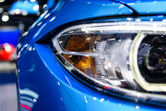 Headlight of BMW M2 Coupe. BANGKOK - MARCH 28 : Headlight of BMW M2 Coupe on display at The 38th Bangkok International Motor Show : Reach to The Planet of Royalty Free Stock Photo
