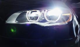 Headlight. Of a brand new car Stock Image