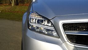 Headlight on car Stock Photography