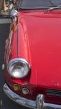 Headlight on a car hood Royalty Free Stock Image