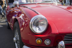 Headlight on a car hood Royalty Free Stock Images