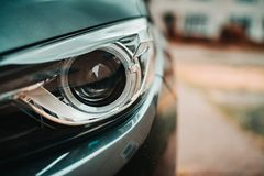 Headlight of the car stock photos