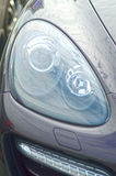 Headlight car premium. Shine Royalty Free Stock Photo