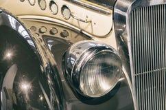 Headlight detail on a classic car Royalty Free Stock Photos