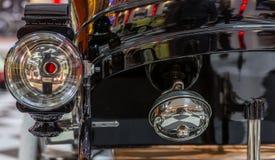 Headlight Detail of Classical Car Stock Photos