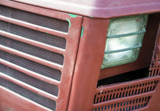 Headlight details of the old model of agricultural tractor Stock Photos
