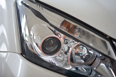 Headlight in front of car Stock Photos