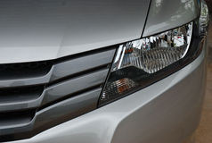 Headlight in front of car Stock Image