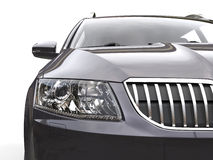 Headlight and front chrome grille closeup shot Stock Photo