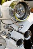 Headlight and Horn of Retro Car Stock Photography